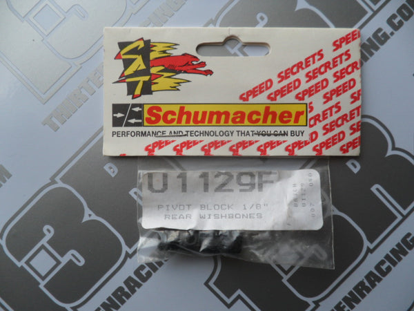 "Schumacher Pivot Blocks - 1/8"" Rear Wishbones, U1129F"
