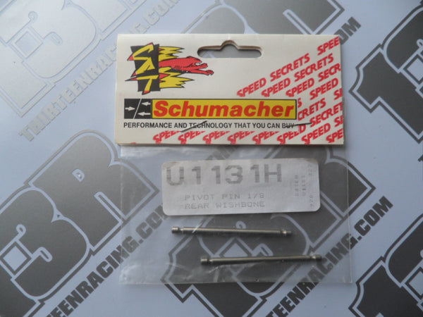 "Schumacher Pivot Pins 1/8"" Rear Wishbone (2), U1131H"