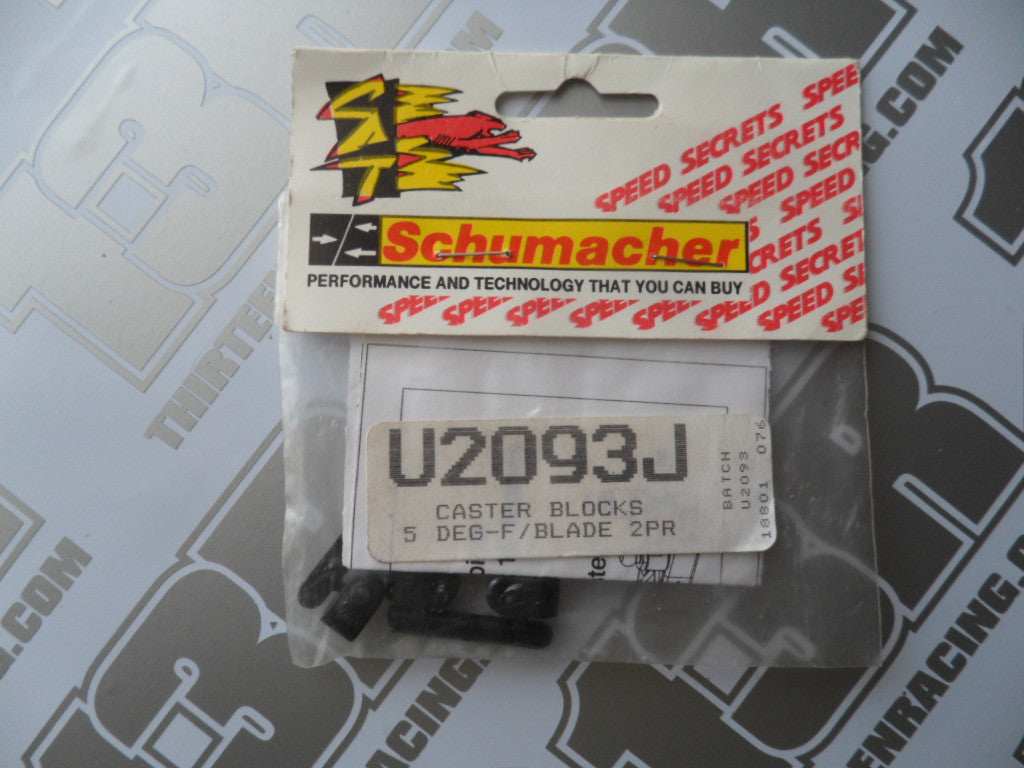 Schumacher Fireblade 5 Degree SACS Caster Blocks (2 Pairs), U2093J