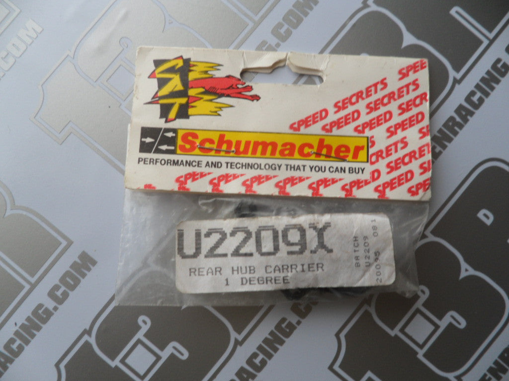 Schumacher Rear Hub Carriers 1 Degree (Pr) - Fireblade EVO/CAT 3000, U2209X