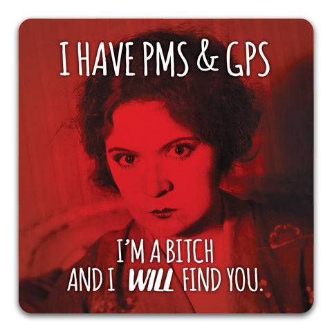 """PMS & GPS"" Drink Coaster by CJ Bella Co."
