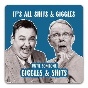 124 All Shits & Giggles Funny Rubber Tabletop Car Coaster by CJ Bella Co.