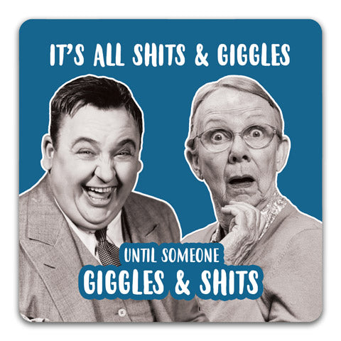 """Sh*ts & Giggles"" Drink Coaster by CJ Bella Co."