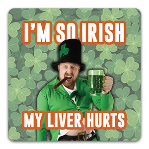 I'm So Irish Funny Rubber Tabletop Car Coaster by CJ Bella Co.