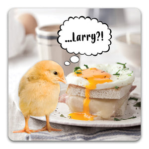 Larry?! Funny Rubber Tabletop Car Coaster by CJ Bella Co.
