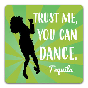 Trust Me Tequila Funny Rubber Tabletop Car Coaster by CJ Bella Co.
