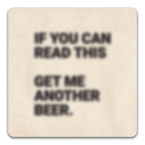 If you can Read this Funny Rubber Tabletop Car Coaster by CJ Bella Co.