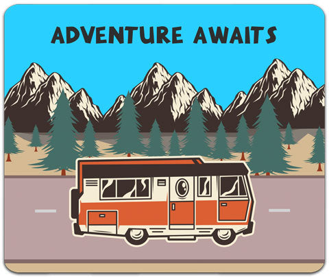 """Adventure Awaits"" Mouse Pad by CJ Bella Co"