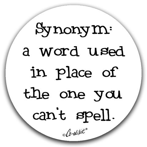 """Synonym A Word Used"" Car Coasters by Co-edikit"