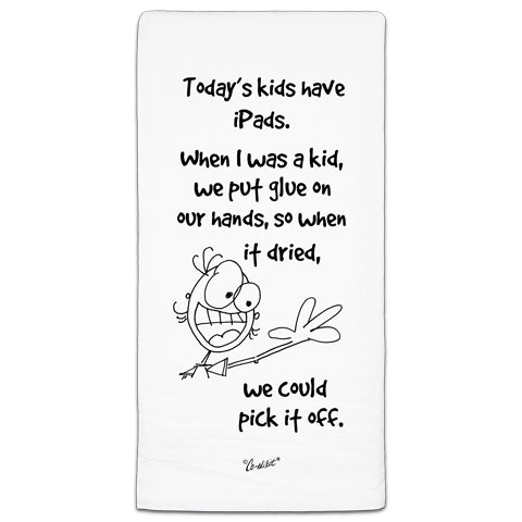 """Today's Kids"" Flour Sack Towel by Co-edikit"