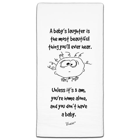 """A Baby's Laughter"" Flour Sack Towel by Co-edikit"