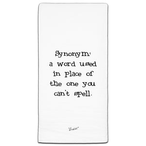 """Synonym"" Flour Sack Towel by Co-edikit"