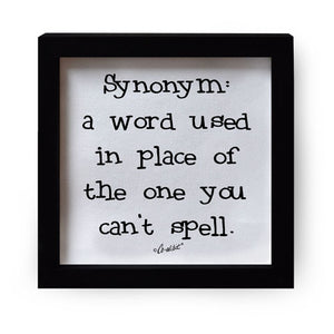 """Synonym: A Word"" Canvas Box Sign by Co-Edikit"
