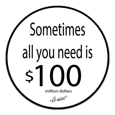 """Sometimes All You Need"" Vinyl Decal by Co-Edikit"