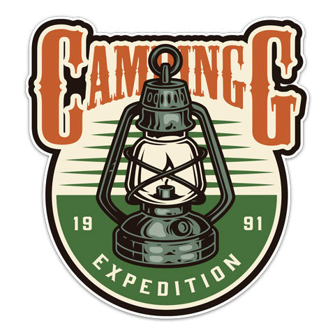 """Camping Expedition"" Vinyl Decal by CJ Bella Co"