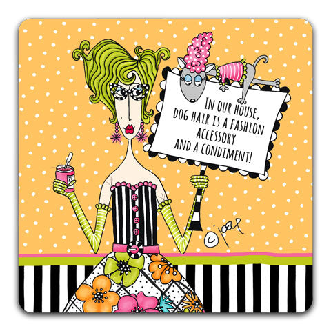 """In Our House"" Dolly Mama's by Joey Drink Coaster"
