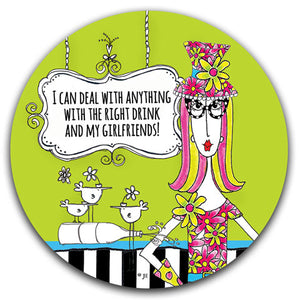 """I Can Deal With Anything"" Dolly Mama's by Joey Car Coaster - CJ Bella Co."