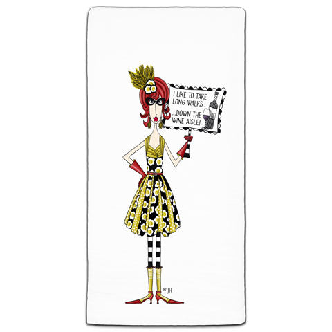 """I Like To Take"" Dolly Mama's by Joey Flour Sack Towel"