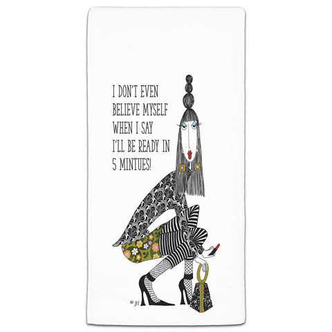 """I Don't Even Believe Myself"" Dolly Mama's by Joey Flour Sack Towel"