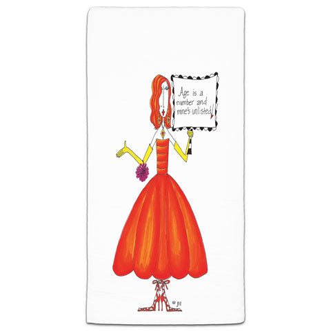 """Age is a Number"" Dolly Mama's by Joey Flour Sack Towel"