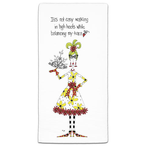 """It's Not Easy Walking"" Dolly Mama's by Joey Flour Sack Towel"
