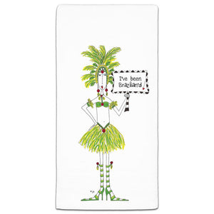 """I've Been Brazillian'd"" Dolly Mama's by Joey Flour Sack Towel - CJ Bella Co."