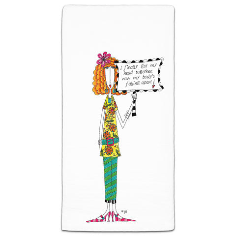 """I Finally Got My Head Together"" Dolly Mama's by Joey Flour Sack Towel"
