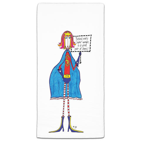 """Behind Every Super Woman"" Dolly Mama's by Joey Flour Sack Towel"