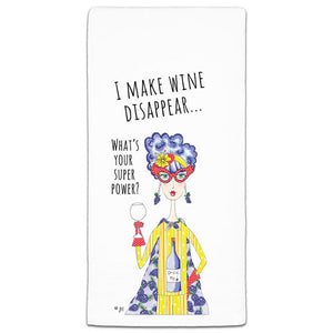 """I Make Wine Disappear"" Dolly Mama's by Joey Flour Sack Towel - CJ Bella Co."