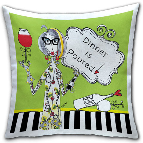 """Dinner is Poured!"" Dolly Mama's by Joey Pillow"