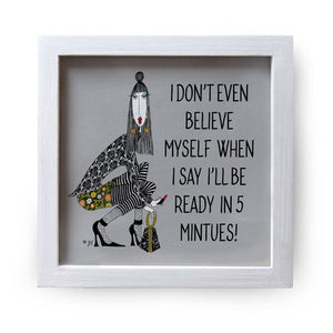 """I Don't Even"" Canvas Box Sign by Dolly Mama by Joey"