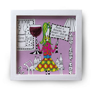 """Alcohol Is Definitely"" Canvas Box Sign by Dolly Mama by Joey"