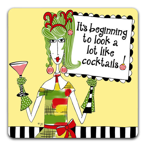 """It's Beginning"" Dolly Mama's by Joey Drink Coaster"
