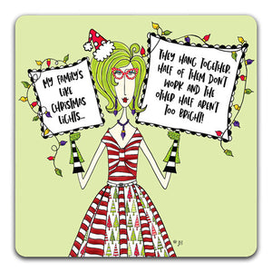 """My Family's Like"" Dolly Mama's by Joey Drink Coaster"