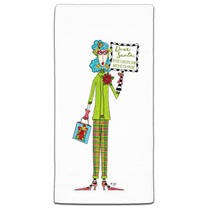 """Dear Santa"" Dolly Mama's by Joey Flour Sack Towel"