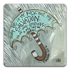 EH1-107-Truly-He-Is-My-RockElizabeth-Hilliard-Truth-Be-ToldTabletop-Coaster-by-CJ-Bella-Co.