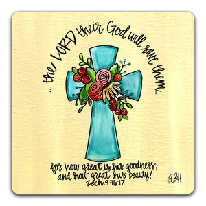 EH1-111-The-Lord-Their-GodElizabeth-Hilliard-Truth-Be-Told-Tabletop-Coaster-by-CJ-Bella-Co.