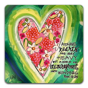 EH1-112-Anxious-Hearts-Are-Very-HeavyElizabeth-Hilliard-Truth-Be-ToldTabletop-Coaster-by-CJ-Bella-Co.