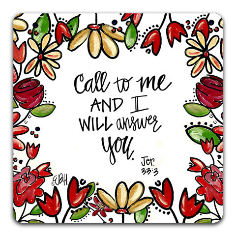 """Call To Me"" Drink Coaster by Elizabeth Hilliard"