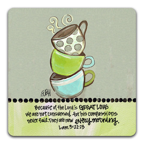 """Because Of The Lord's"" Drink Coaster by Elizabeth Hilliard"