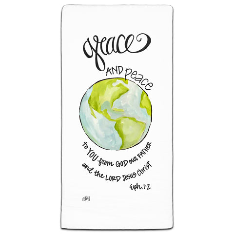 """Grace And Peace"" Flour Sack Towel by Elizabeth Hilliard"