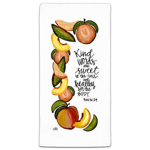"""Kind Words"" Flour Sack Towel by Elizabeth Hilliard"