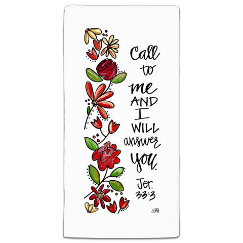 """Call To Me"" Flour Sack Towel by Elizabeth Hilliard"