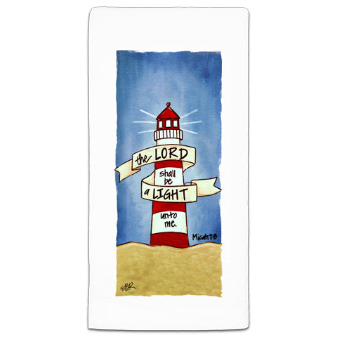 """The Lord Shall Be"" Flour Sack Towel by Beth Radford"