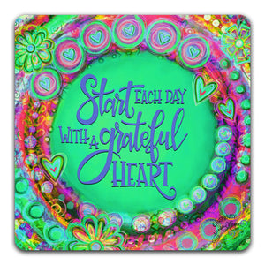 """Start Each Day"" Tabletop Coaster by Jennifer Wagner"