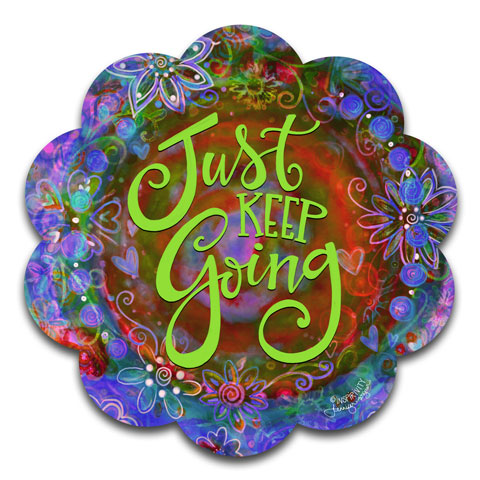 """Just Keep Going"" Vinyl Decal by Jennifer Wagner & CJ Bella Co"