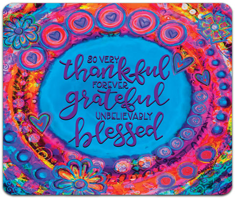 """So Very Thankful"" Mouse Pad by Jennifer Wagner"
