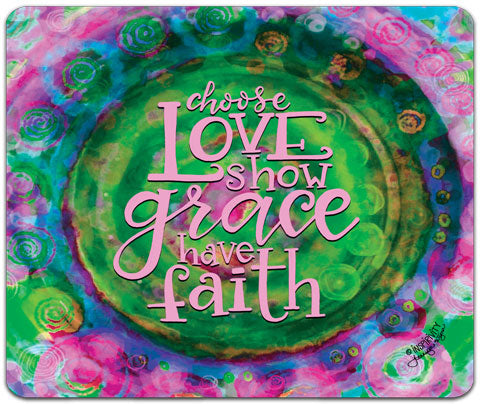 """Choose Love"" Mouse Pad by Jennifer Wagner"