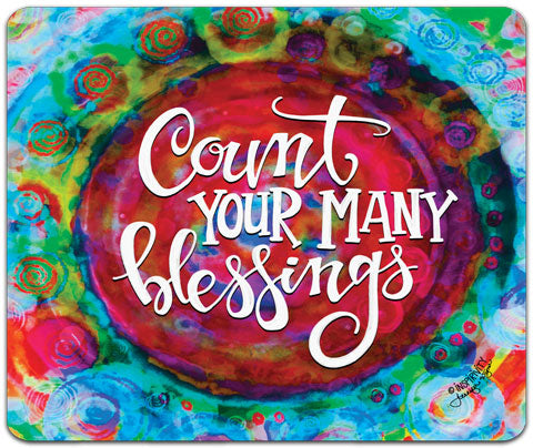 """Count Your Many"" Mouse Pad by Jennifer Wagner"