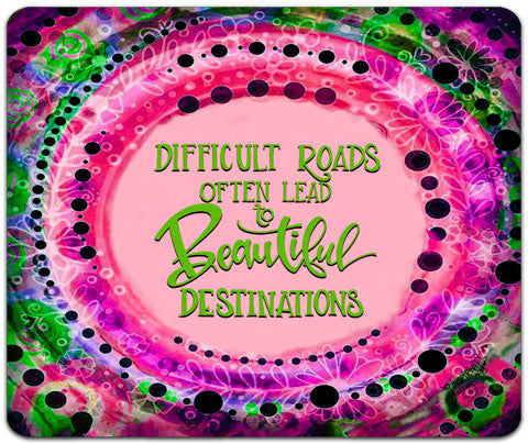 """Difficult Roads"" Mouse Pad by Jennifer Wagner"